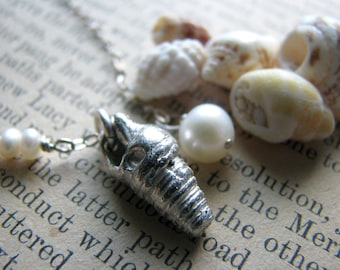 Hawaii Beach Shell Necklace No. 1- Sterling Silver - Gift Destination Wedding Graduation Scuba Diving Swimming Triathlon