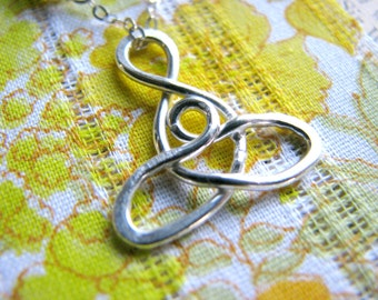 Celtic Infinity Mother and Child Necklace - Sterling Silver - Gift Maternity Adoption Mother Mom Grandmother Sister Cousin Wife Best Friend