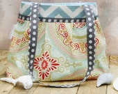 Pleated Purse, Medium Shoulder Bag, Funky Handbag, Cute Tote Purse in Raspberry Sorbet