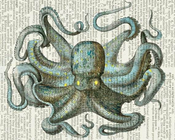 octopus IV dictionary page print