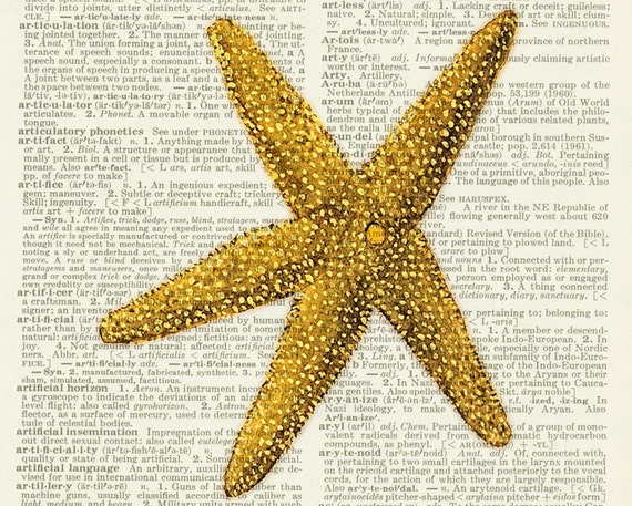 starfish dictionary page print
