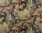 Ralph Lauren Equestrian Hunt Themed Print CottonTwill Fabric
