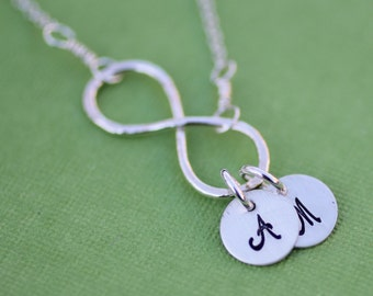 Infinity Initial Necklace, Sterling Silver