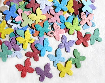 200 Seed Paper Butterflies - Plantable Paper Butterfly Wedding Favor - Confetti Seed Paper
