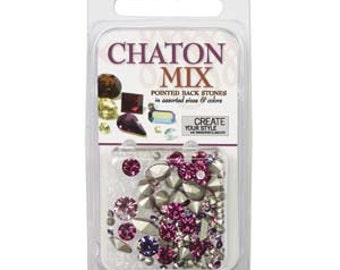 SWAROVSKI Elements ELEMENTS Chaton Mix- Assorted Shapes And Sizes - Pink/Purple (4.5g) 59162