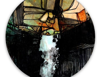 Circle Abstraction Series ... No. 11 ... Original Contemporary Modern circle painting by Kathy Morton Stanion EBSQ
