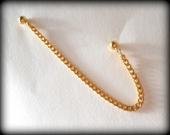 Cartilage Chain Earring - Simple Gold Tone