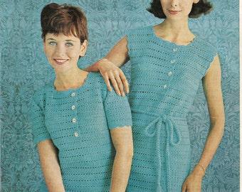 Crochet Sleeveless Dress Pattern - On Right