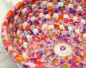 Bold, Colorful Rag Basket Bowl