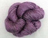 Hand Dyed Worsted Weight Silk Yarn - Pastel Plum