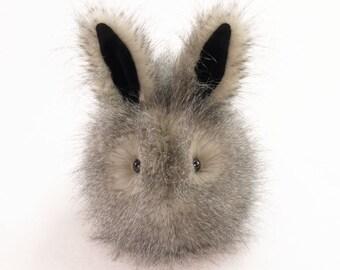 Stuffed Bunny Stuffed Animal Cute Plush Toy Bunny Kawaii Plushie Jasper the Bunny Snuggly Cuddly Faux Fur Toy Rabbit Large 6x10 Inches
