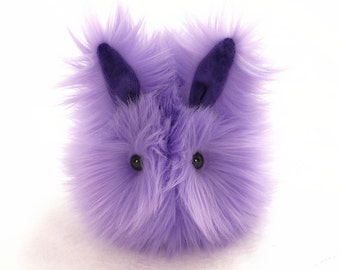 Stuffed Bunny Stuffed Animal Cute Plush Toy Bunny Kawaii Plushie Pansy the Lavender Easter Bunny Rabbit Cuddly Faux Fur Toy Small 4x5 Inches