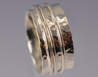 Spinning Ring 10mm Sterling Silver