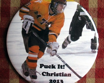 Custom/Personalized Hockey/Sports Magnet  Your photo and text 3 ich mylar