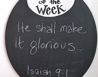 Verse of the Week Chalkboard - servant platter