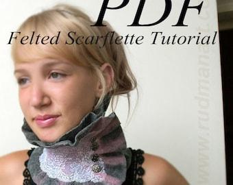 Felted Scarflette Tutorial Nunofelting in English PDF