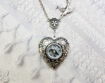Silver Compass Locket - The ORIGINAL Silver Locket Necklace - Follow Your Heart COMPASS Locket - Valentine's Day Wedding Birthday Gift