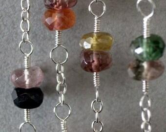 Muticolor tourmaline necklace