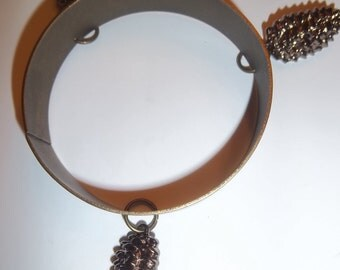 Brass Thyrsus Bracelet OOAK