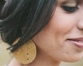 far out constellation vacation brass copper earrings