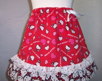 MY Carrie Custom Boutique A-Line Skirt made with Hello Kitty Fabric