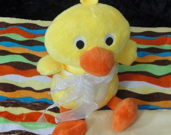 Duck Toy & Blanket - Dog Toy- Baby Toy  - Cuddle Critter Duck - Duck Toy and Blanket - Includes Embroidered Personalization
