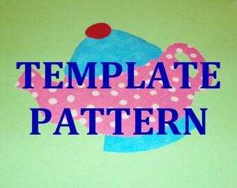 Applique Pdf TEMPLATE PATTERN Only....Tea Pot TEAPOT...New