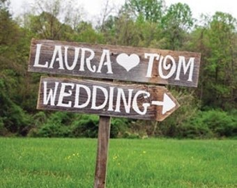 Wedding Sign, Personalized Wedding Sign, Wooden Wedding Sign, Rustic Wedding Sign, Wedding Ceremony Decor, Wedding Decor, Wood Sign