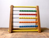 Vintage Sandberg Wooden Abacus 5 Row Counting Toy