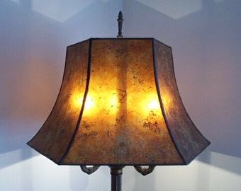 Old Fashioned Lamp Shade: Morning Glory Mica Lamp Shade for your Antique Vintage Table or Floor Lamp  by NYM Arts,Lighting
