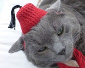 Fat Cat Fez Hat (small medium or large, unisex)
