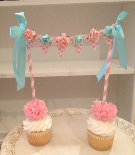 Birthday Decoration Shabby Chic Cake Bunting for Birthday