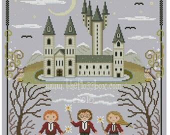 Academy of the Magic Arts Cross Stitch Pattern