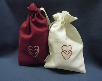 For Your Valentine - Organic Gift Bag, Vegan Soap, Hemp Wash Cloth