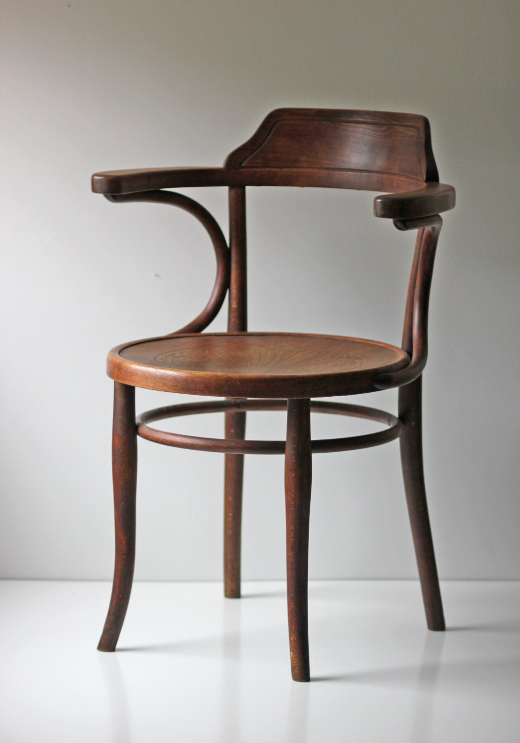 Marked Thonet Cafe Bistro Bentwood Chair