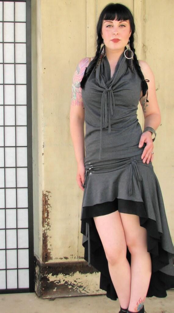 Belladonna high low skirt with adjustable ties