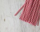 Twist Ties - Red & White Stripes