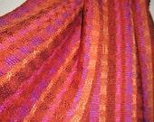 Handwoven  Scarf, Silk Weave Accessories Woven by Tisserande