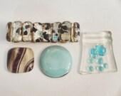 DESTASH SALE.  Aqua/Brown Lot Glass Jewelry