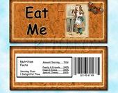 "Alice in Wonderland  ""Eat Me"" Candy Bar Wrappers- Printable JPG Digital File-  BuY OnE GeT OnE FREE"