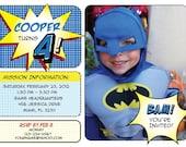 Superhero Batman Invitation - PDF Format