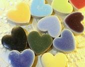 Porcelain Tile Heart Shapes for Mosaics (20 Pieces-Random Mix 1)