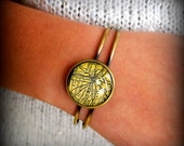 Custom Map Bracelet - You Pick Location - Personalized Map Jewelry - Wedding Bridesmaid Gift