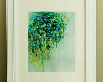Fine Art Print 11X 14 Archival Matted giclee print - from original oil painting Rain Tree- Signed- wall decor