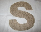 Special order for Brooke   EAT burlap letters