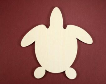 Turtle Shape Unfinished Wood Laser Cut Shapes Crafts Variety of Sizes