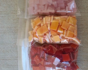 Mosaic Tiles 300 RED ORANGE PINK Stained Glass Mosaic Tile