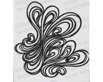 Loopy Papercut ACEO, Handcut Original