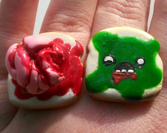 SALE! Zombie Toast and Bloody Brains Friendship Rings