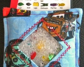 I Spy Bag - Mini with SEWN Word List and Detachable PICTURE LIST- Team Lightning McQueen